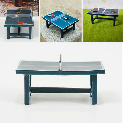 Dollhouse Miniature - PING PONG TABLE With 2*Table tennis bat