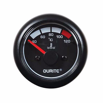 12/24V Illuminated Marine Water Temperature Gauge & Sender - Durite 0-525-23