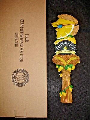 *NEW* SHOCK TOP - LEMON SHANDY - BEER TAP HANDLE (New in the Box)