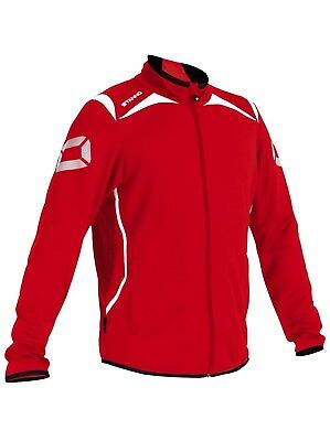 Stanno Forza Full Zip Top Red/white Junior 152 Rrp £21. Bnwt