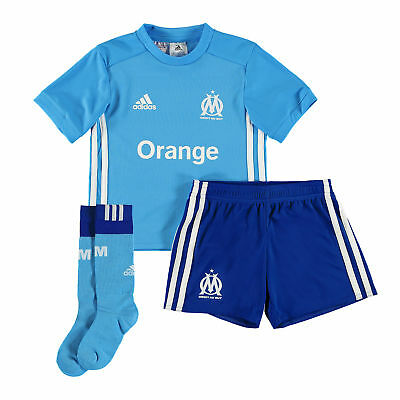 adidas Childrens Football Official Olympique de Marseille Away Mini Kit 2017-18
