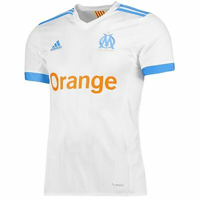 adidas Mens Football Official Olympique de Marseille Home Shirt Jersey 2017-18