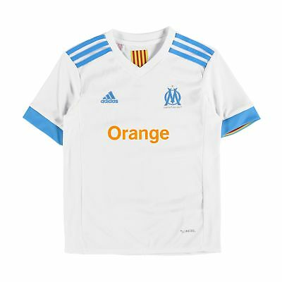 adidas Childrens Football Official Olympique de Marseille Home Shirt 2017-18 Top