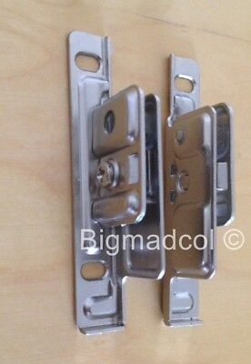 Blum Drawer Front fixing brackets Metabox ZSF170.02 LEFT & RIGHT Pair Brand New