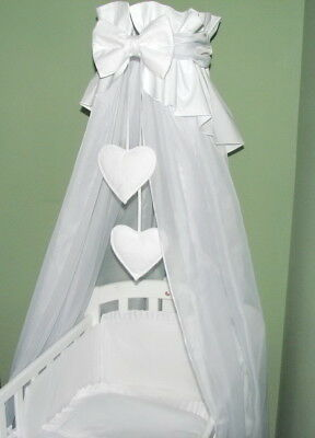 LOVELY NURSERY CANOPY DRAPE + HOLDER for  BABY COT /CRADLE or COTBED