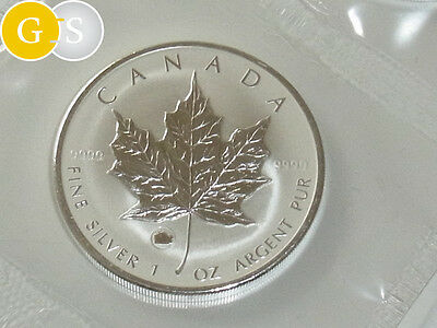 5 Dollar Silber BU 1 Unze Maple Leaf Privy Ochse Ox Kanada 2009 Canada in Folie