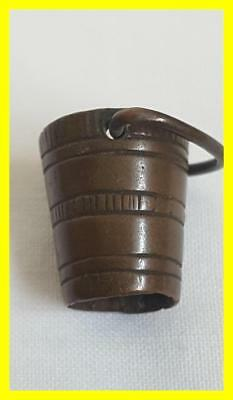 A Victorian Period Small Bronze Bucket, Dolls House Or Figure