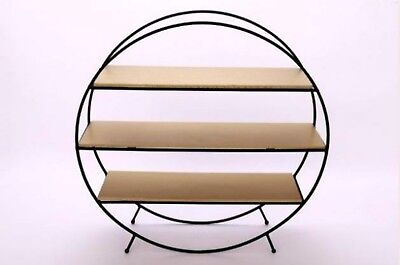 mid century vintage retro 1960's 60's 1970's 70s style black & gold shelf rack