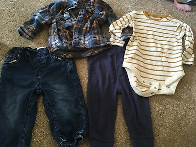 Baby Boys 6-9 Months Clothes Bundle Next/george/boots