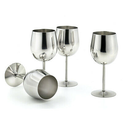 4 pieces Metal Wine Champagne Drinks Cups Glasses Goblets for Home Party Use
