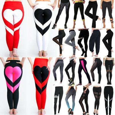Women High Waist Yoga Leggings Trousers Ladies Sports Running Fitness Gym Pants