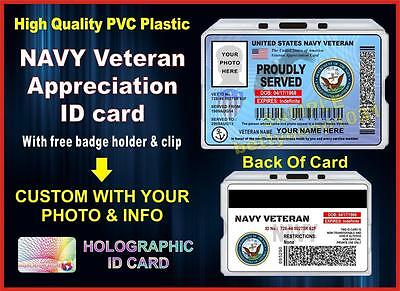 US Veteran NAVY (Appreciation) ID Card / Badge - Military - United States - Vet