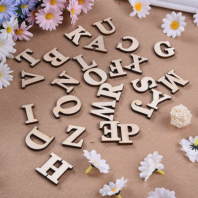 Wooden Crafts DIY English Letters Numbers Decorative Sticking Accessories Decor
