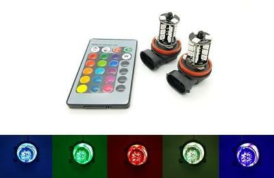 HB4 9006 LED Colour Change Fog light Bulbs Remote Flash Strobe Fade NON CANBUS