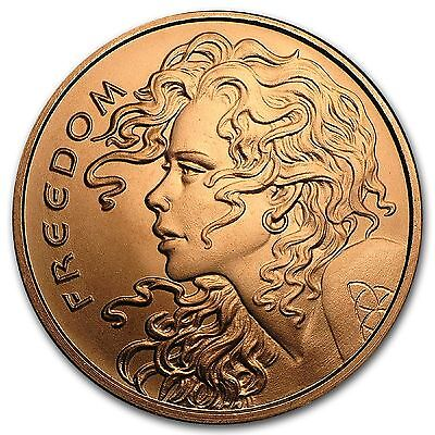2017 Freedom Girl 1 oz .999 Copper Rounds x 20 In Tube