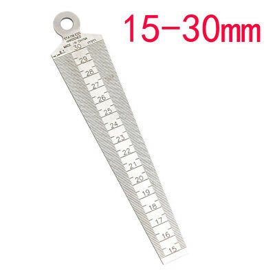 Quilting Ruler Hole Taper Gauge Metric 15-30mm Stainless SteelWedge Measure Tool