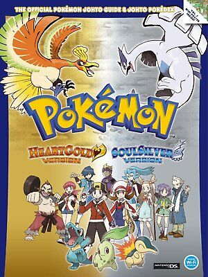 POKEMON HEART GOLD & SOUL SILVER Official Strategy Guide book + Poster NEW