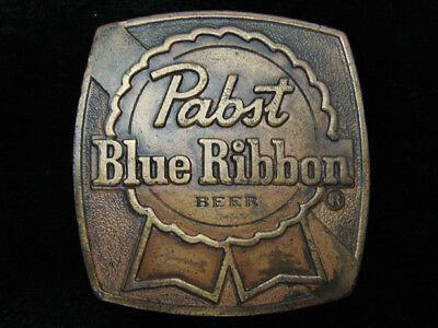 Qi05134 Vintage 1976 **pabst Blue Ribbon Beer** Brewing Company Belt Buckle