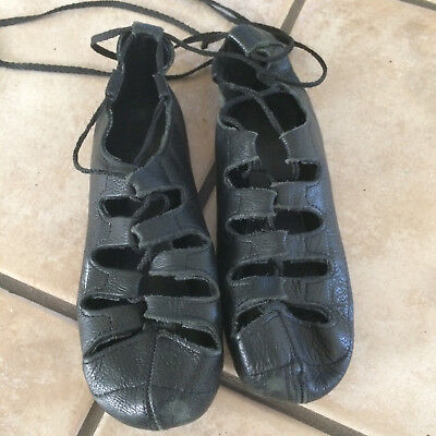 Pacelli Looped Ghillies Soft Irish Dance Shoes, Size 5, Good Condition