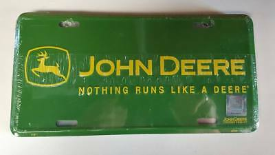 John Deere   Metal license Plate Green Yellow Truck Car Size New