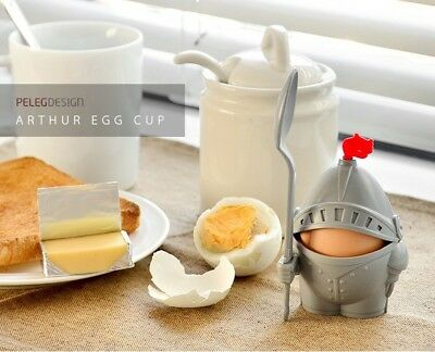 1x Arthur Knight and Armour Boiled Egg Cup Holder W/ Spoon Breakfast Kid Gift AU