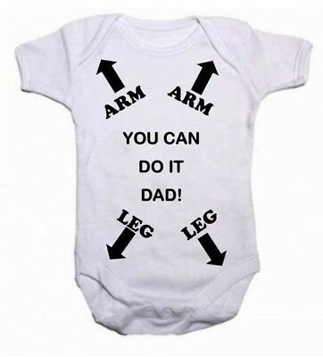 Dad Daddy Instruction Funny Baby Grow Bodysuit Vest Top Unisex Fathers Day Gift