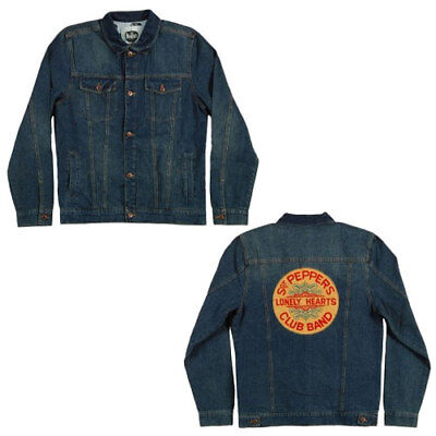 f352bce1a891 Official Beatles Sgt Peppers Lonely Hearts Club Denim Jean Jacket (SM - 2XL)