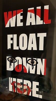 It Pennywise Decal We All Float Down Here Sticker Halloween