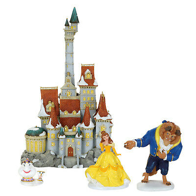 Dept 56 Disney Princess Village Beauty & The Beast Holiday Set 4059500 NEW Belle