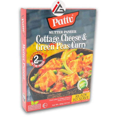 Pattu - Mutter Paneer (Cottage Cheese & Green Peas Curry) Ready To Serve -  6x28
