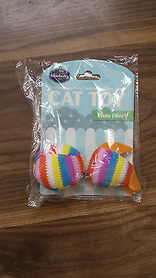 Two Cat toys filled with catnip