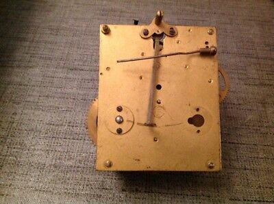 Antique Clock Movement 10x11cm Untested For Repair Spare Parts