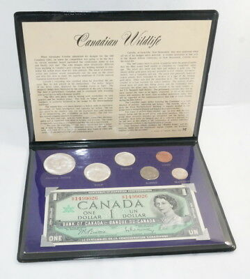 Canadian Wildlife Folder with 6-Coins plus 1 Currency - FREE Shipping