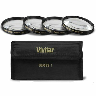 Vivitar 62mm 4pc HD Macro Close-UP Lens Filter Set +1 +2 +4 +10