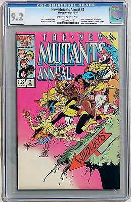 New Mutants Annual #2 (Marvel 1986) CGC 9.2 NM-   1st US Appearance of Psylocke