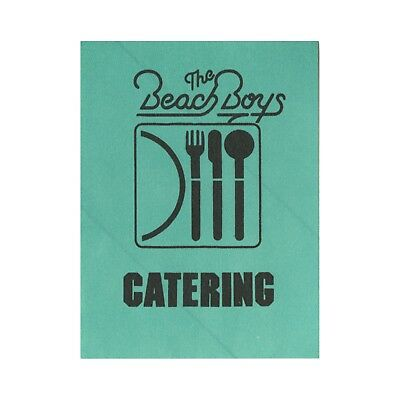 The Beach Boys authentic Catering 1980's tour Backstage Pass