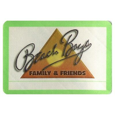 The Beach Boys authentic Family & Friends 1980's tour Backstage Pass