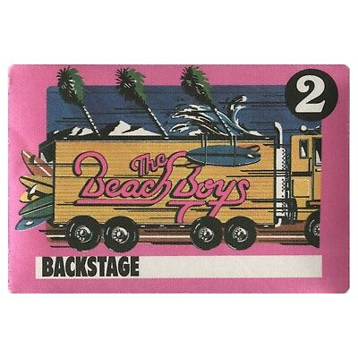 The Beach Boys authentic VIP 1989 tour Backstage Pass