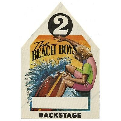 The Beach Boys authentic VIP 1980's tour Backstage Pass