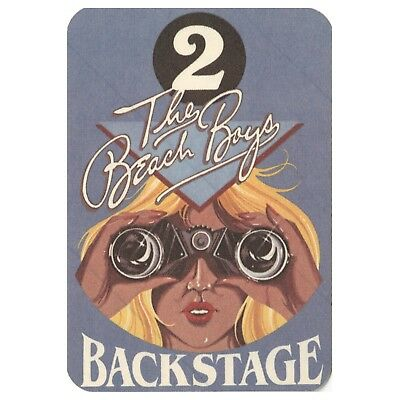 The Beach Boys authentic VIP 1982 tour Backstage Pass