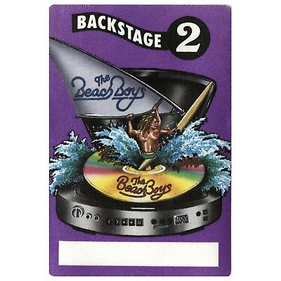 The Beach Boys authentic Backstage 1980's tour Backstage Pass