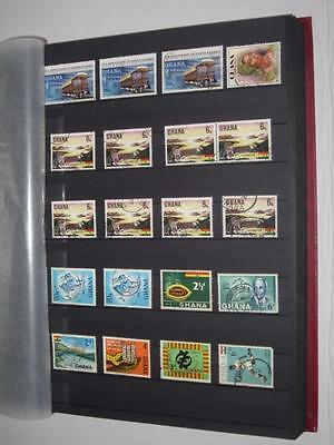 GHANA and MORE Stamp Book Binder Collection 32 pgs 2600+ stamps  LV06653