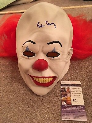 Tim Curry Signed Pennywise Adult Mask Jsa Proof Autograph Stephen King It