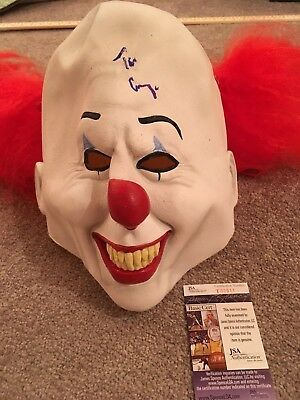 Tim Curry Signed Pennywise Adult Mask Jsa Proof Autograph Stephen King It 2