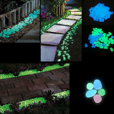 Colorful stone Glow Decorative in Garden Pebbles Outdoor Walkway Party 100-Pack