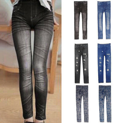Fashion Women Sexy Jeans Skinny Pants Jeggings Stretchy Slim Leggings Trousers