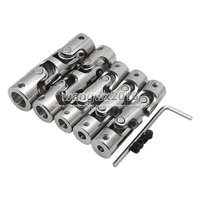 4/5/6/8mm Three-section Universal Joint Coupling Shaft Motor Connector Coupler