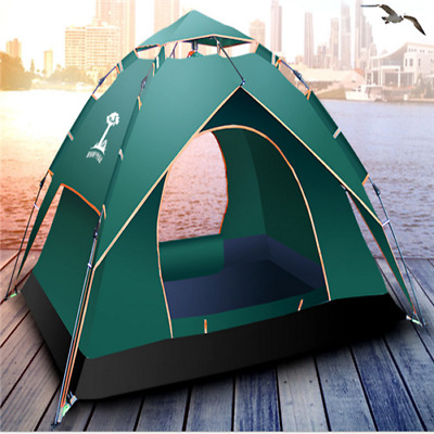 Double layer  outdoor product Spring automatic tents 3-4 people camping tents