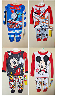 *nwt- Infant Boy's 2-Pc Licensed Character Ls Knit Pajama Set - 12M - 5T