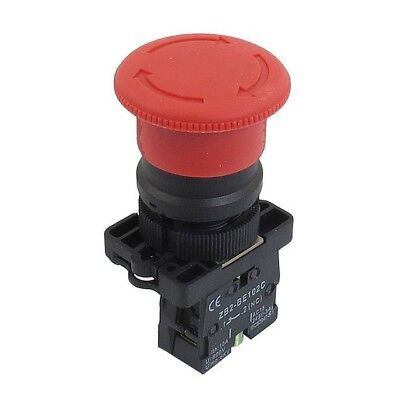 Red E-Stop Pushbutton 22Mm Mushroom Head Twist Release Emergency Stop Zb2-Es542